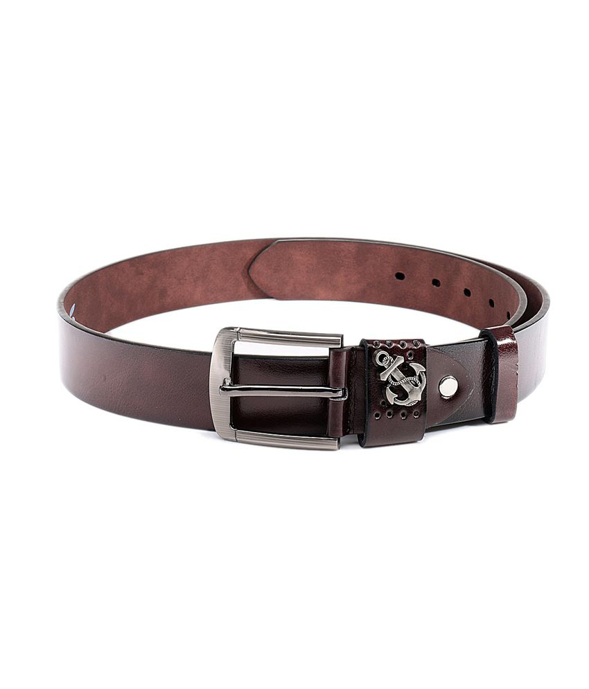 Swiss Design Brown Pin Buckle Casual Belt For Men