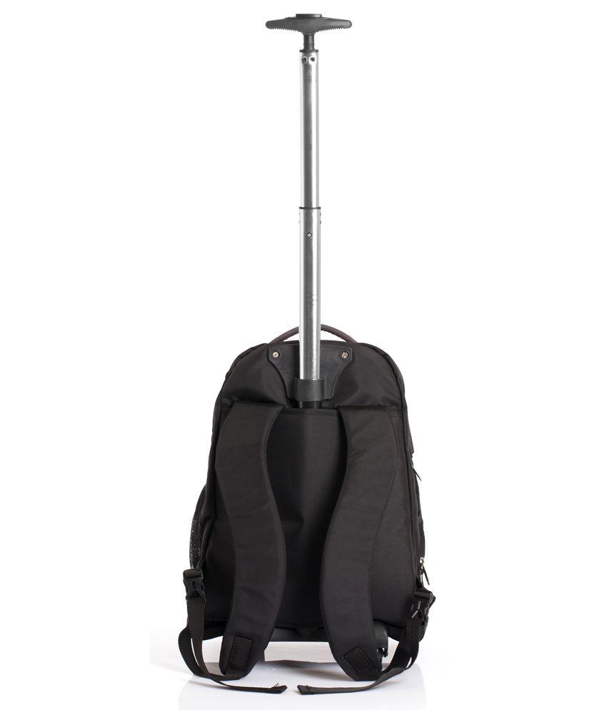 Bags R Us Black Polyester 2 Wheel Skyline Rolling Laptop