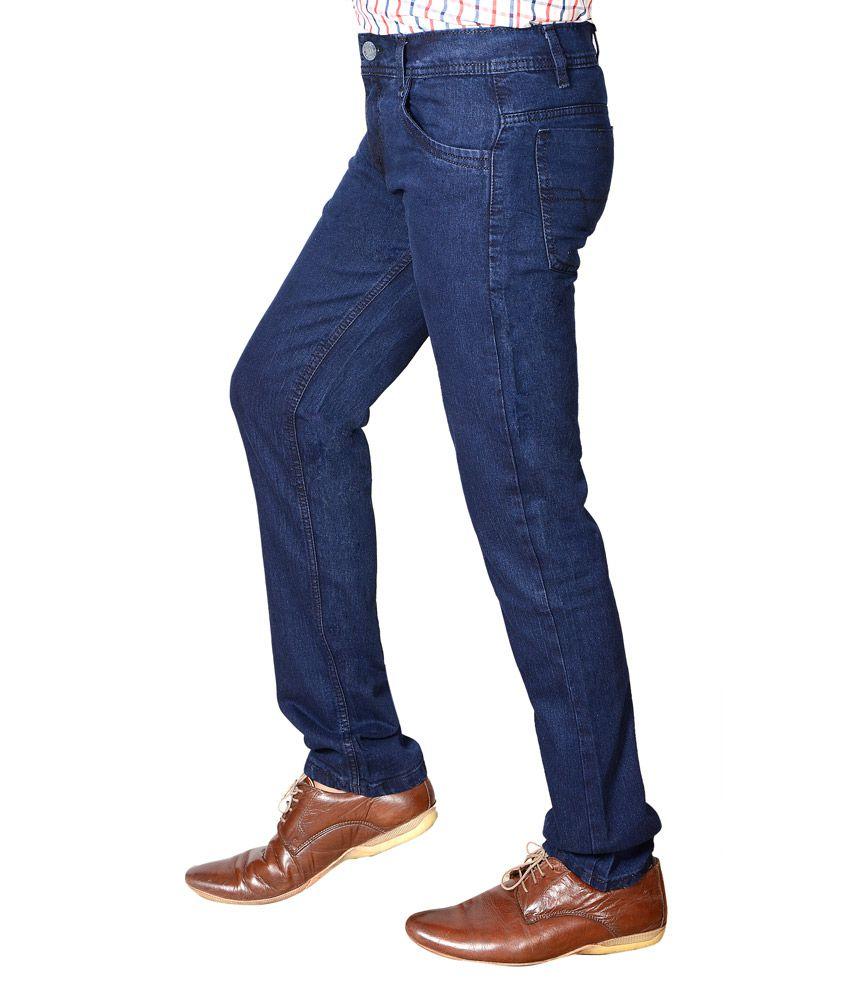 e98d5489217 Flyjohn Trendy Blue Cotton Denim Jeans Flyjohn Trendy Blue Cotton Denim  Jeans ...