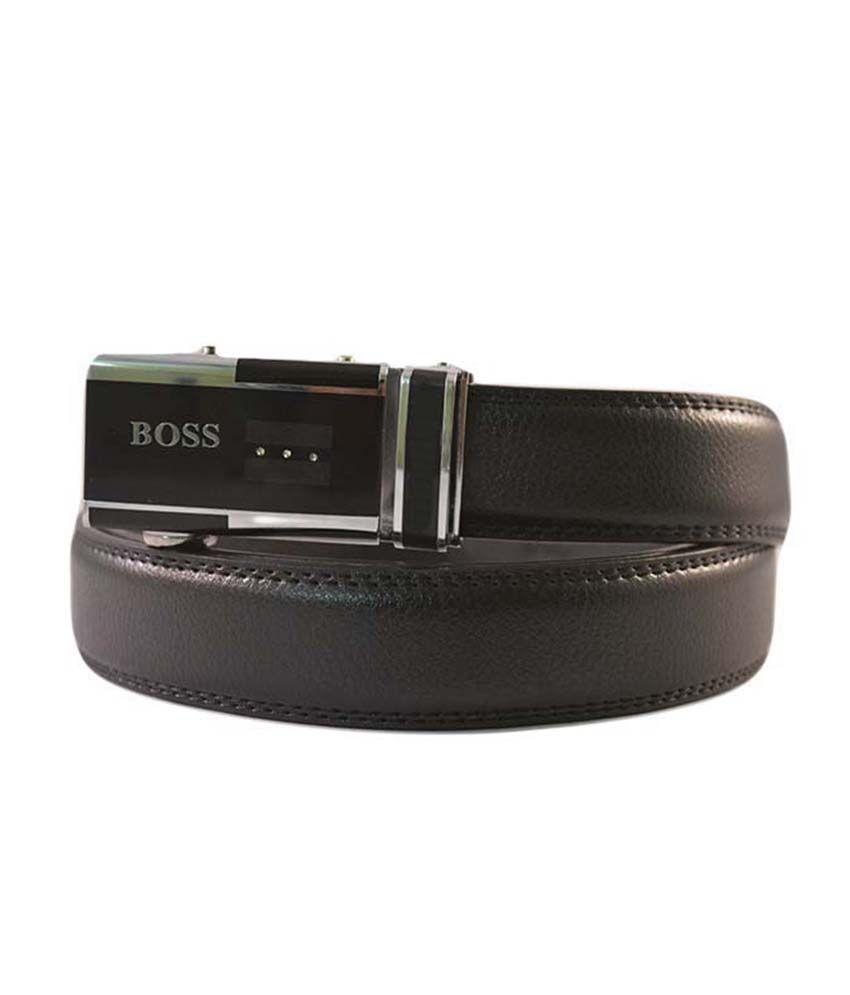 Kalon Black Formal Belt For Men