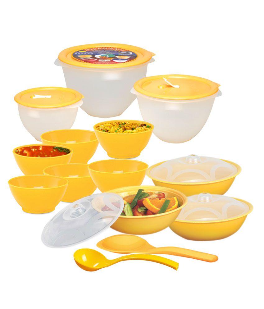 Ruchi Housewares Microwave Heat serve store Set  of 14 Pcs