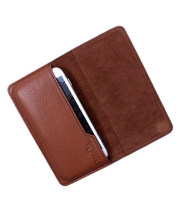 Dooda Genuine Leather Flip Pouch Case For Gionee Ctrl V4 available at SnapDeal for Rs.699