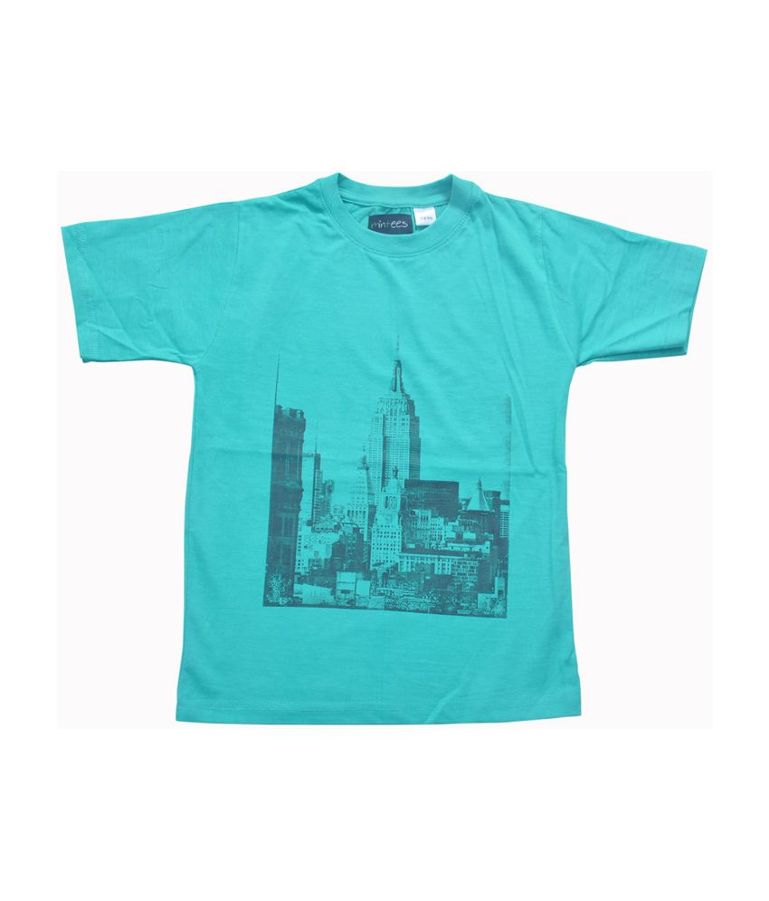 Mintees turquoise world trade center building printed for Trade t shirt printing