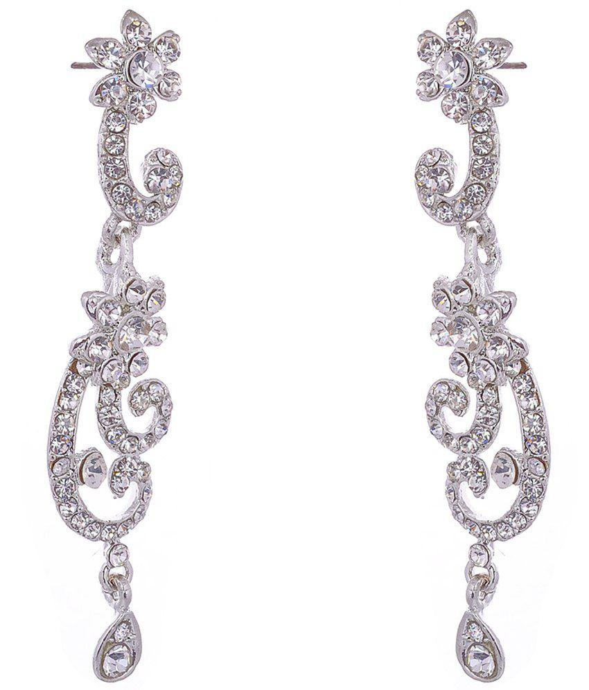 Aditri Appealing Silver Hanging Earrings
