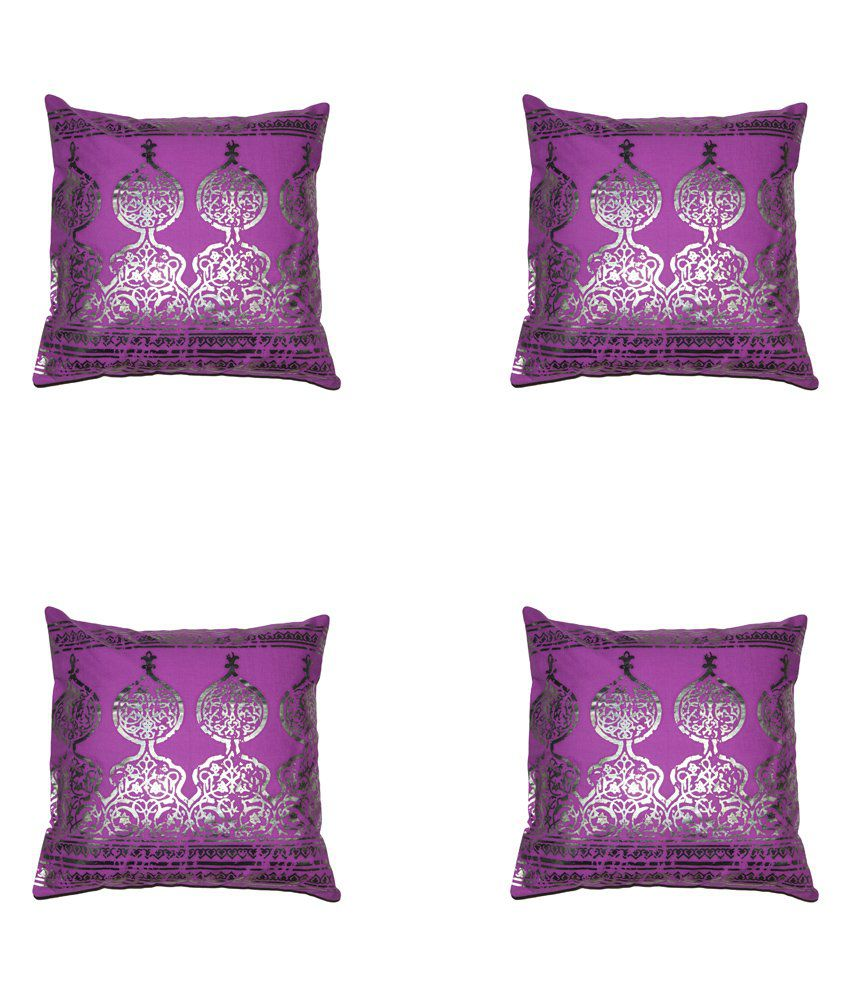 House This Darbaar Foli Print Set Of 4 Cushion Cover