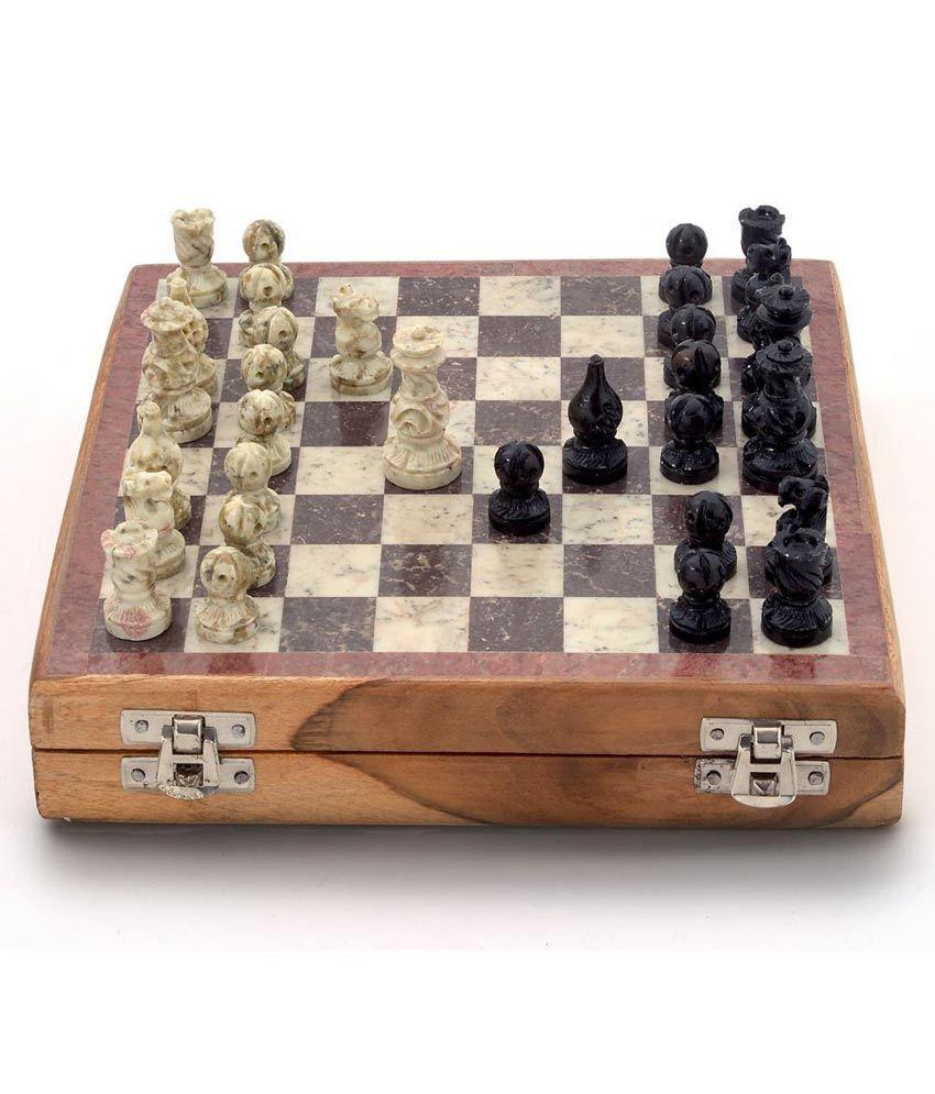 Little India Real Makrana Marble Chess Board Handicraft -106