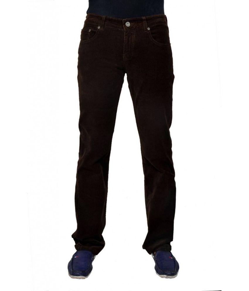 Passport Brown Regular Fit Jeans