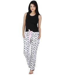 Nite Flite White Cotton Pajamas