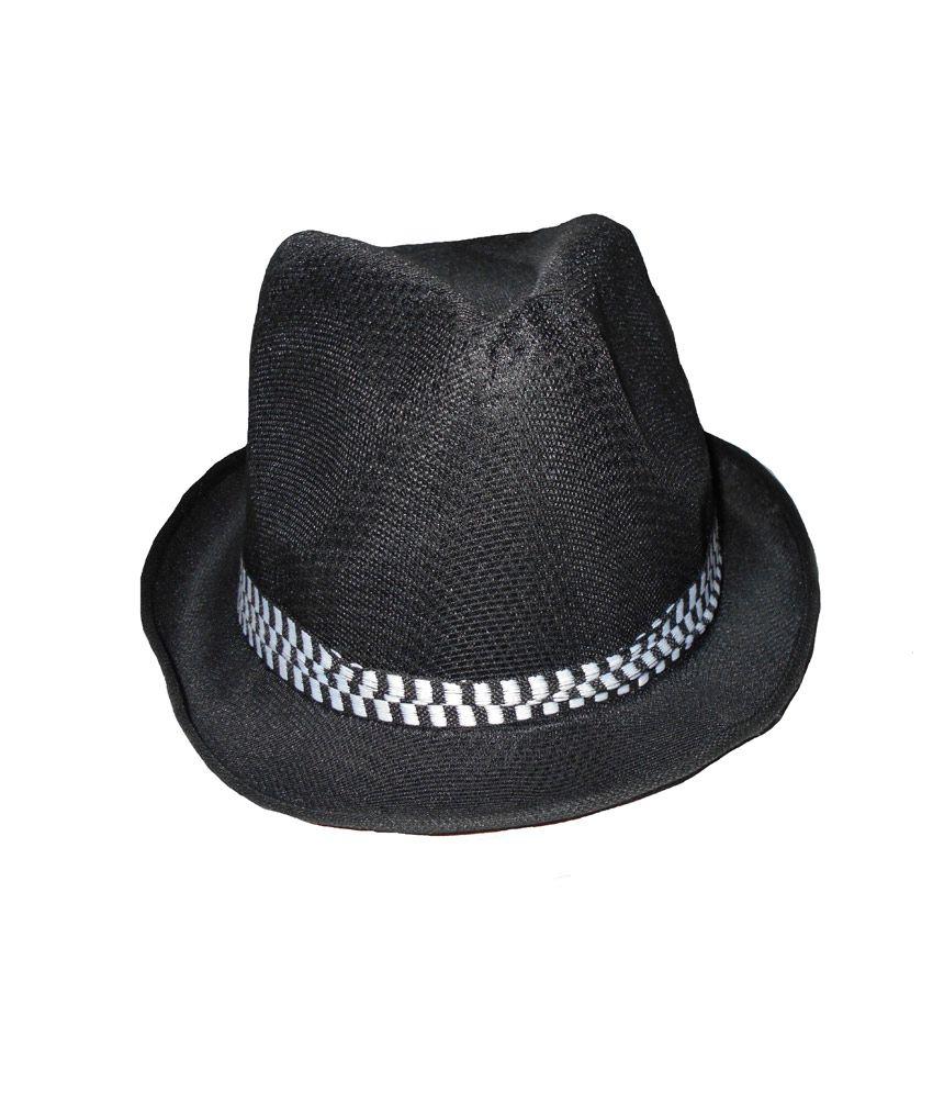 Aaron Black Polyester Reversible Stylish Hat