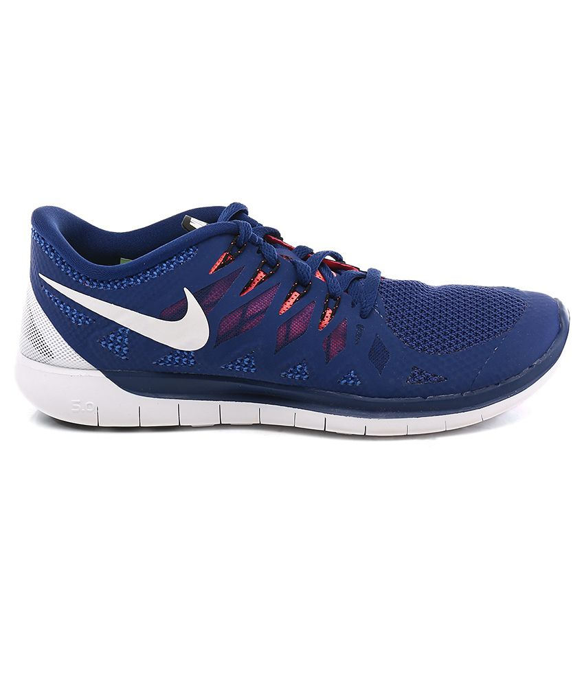 new styles 78907 1f1c1 Nike Nike Free 5.0 Blue Sport Shoes