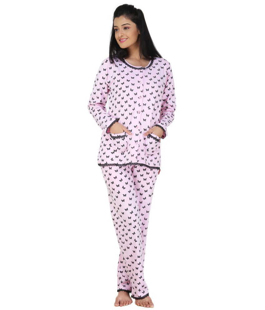 2c8b4df575e Buy Nite Flite Pink Cotton Nightsuit Sets Online at Best Prices in India -  Snapdeal