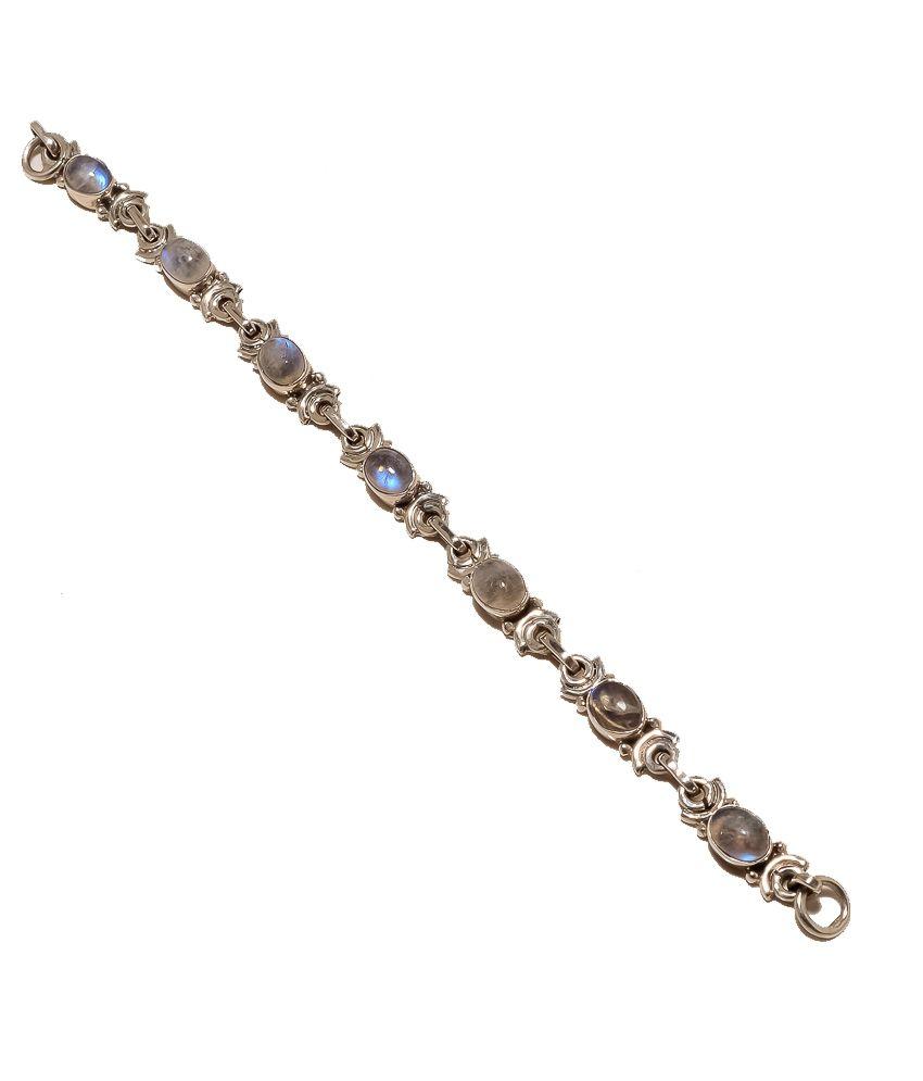 Noor Noor Paisley Silver Designer Bracelets (Multicolor)