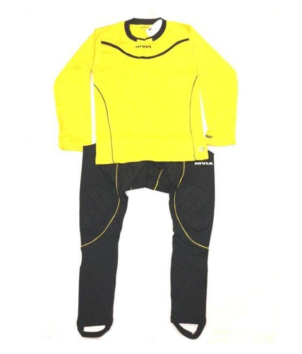 4cf47600b81 Nivia Armour Yellow And Black Football Goalkeeper Jersey Set - Buy Nivia  Armour Yellow And Black Football Goalkeeper Jersey Set Online at Low Price  in India ...