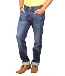 Wrangler Dark Blue Stretchable Denim Jeans