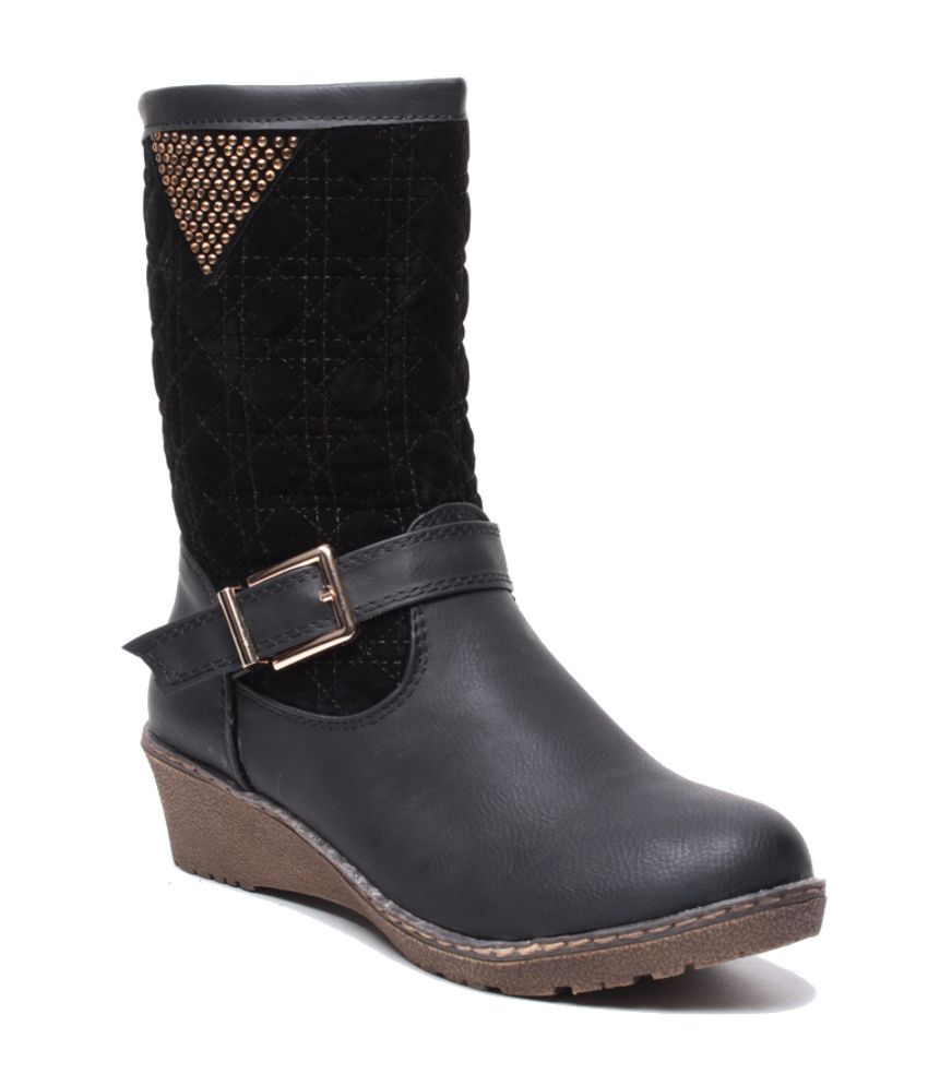 anand archies black wedges boots price in india buy anand