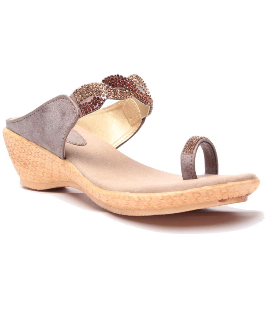 Anand Archies Brown Wedges Heeled Slip-on