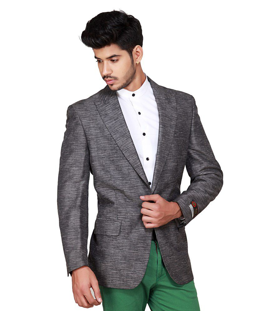 83e3efff91a Gray Semi-formal Blazers - Buy Gray Semi-formal Blazers Online at Best  Prices in India on Snapdeal