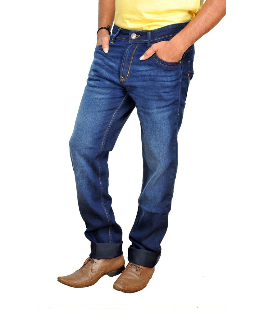 Wrangler Dark Blue Stretchable Denim Jeans