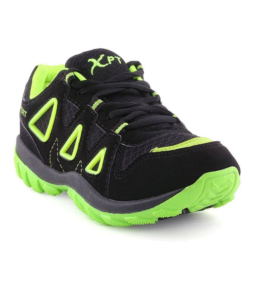 Xpert Fitter Black Sport Shoes