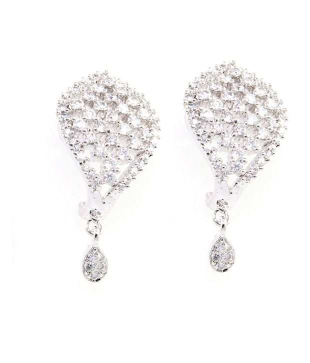 American Diamond & Cz Silver Plated Decent Earring SuperShine Jewelry