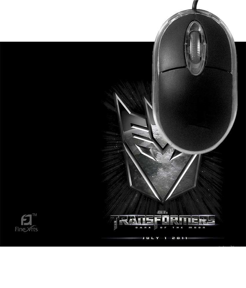 FineArts Transformers Mousepad with Terabyte 3D Optical USB Mouse