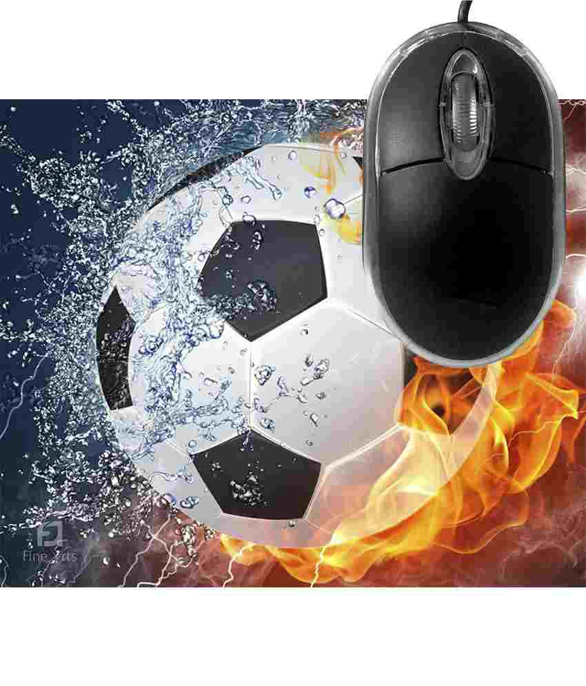 FineArts Fire and Ice Foodball Mousepad with Terabyte 3D Optical USB Mouse