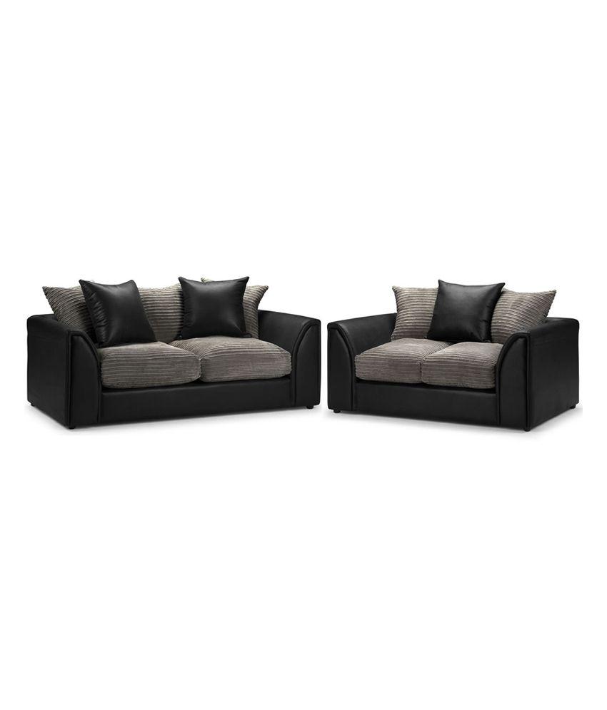 ranjith black colour sofa set buy ranjith black colour sofa set online at best prices in india. Black Bedroom Furniture Sets. Home Design Ideas