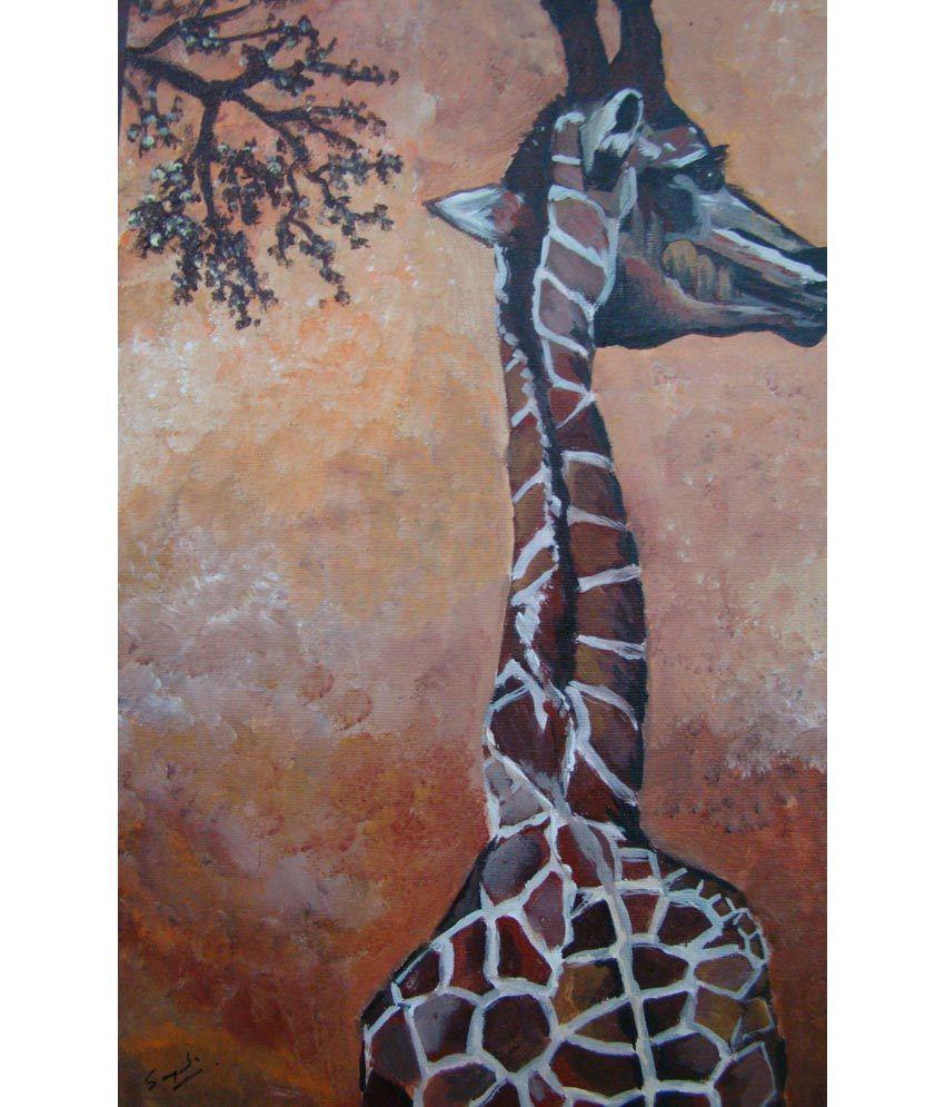 Sangeeta Agarwal Giraffe Painting For Home