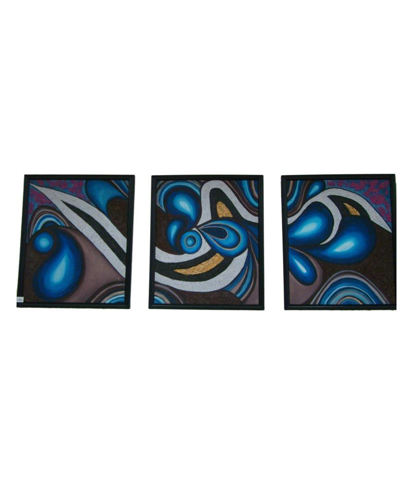 Sangeeta Agarwal Silver Wave In Blue Painting For Home