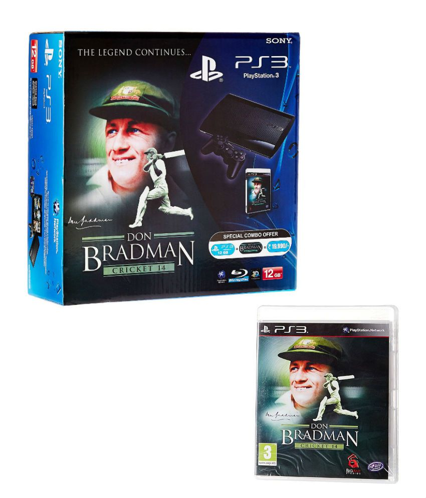 Sony PlayStation 3 12GB Console (Free Game: Don Bradman Cricket 14)