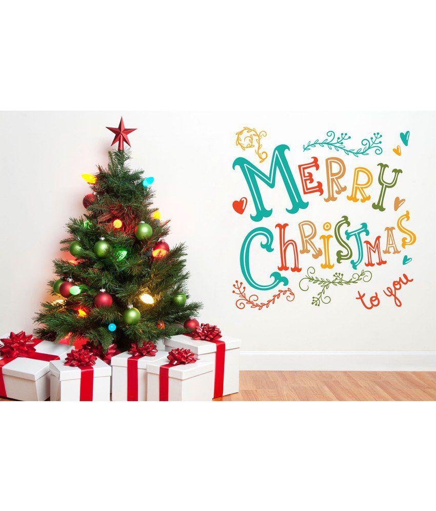 Decor Kafe Merry Christmas Wall Decor: Buy Decor Kafe Merry ...