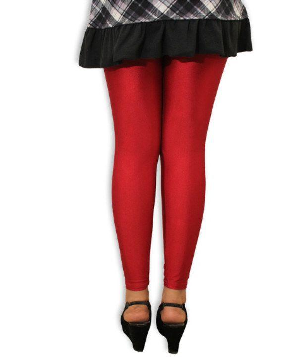 be42cdb3351ec5 Discownt Red Silk Leggings Price in India - Buy Discownt Red Silk ...