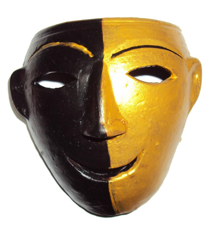 Hand Art Home Decorative Terracotta Wall Hanging Double Face Mask ...
