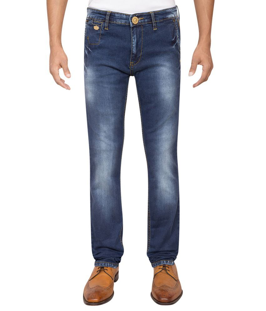 Rick Rogue Blue Slim Fit Cotton Lycra Jean