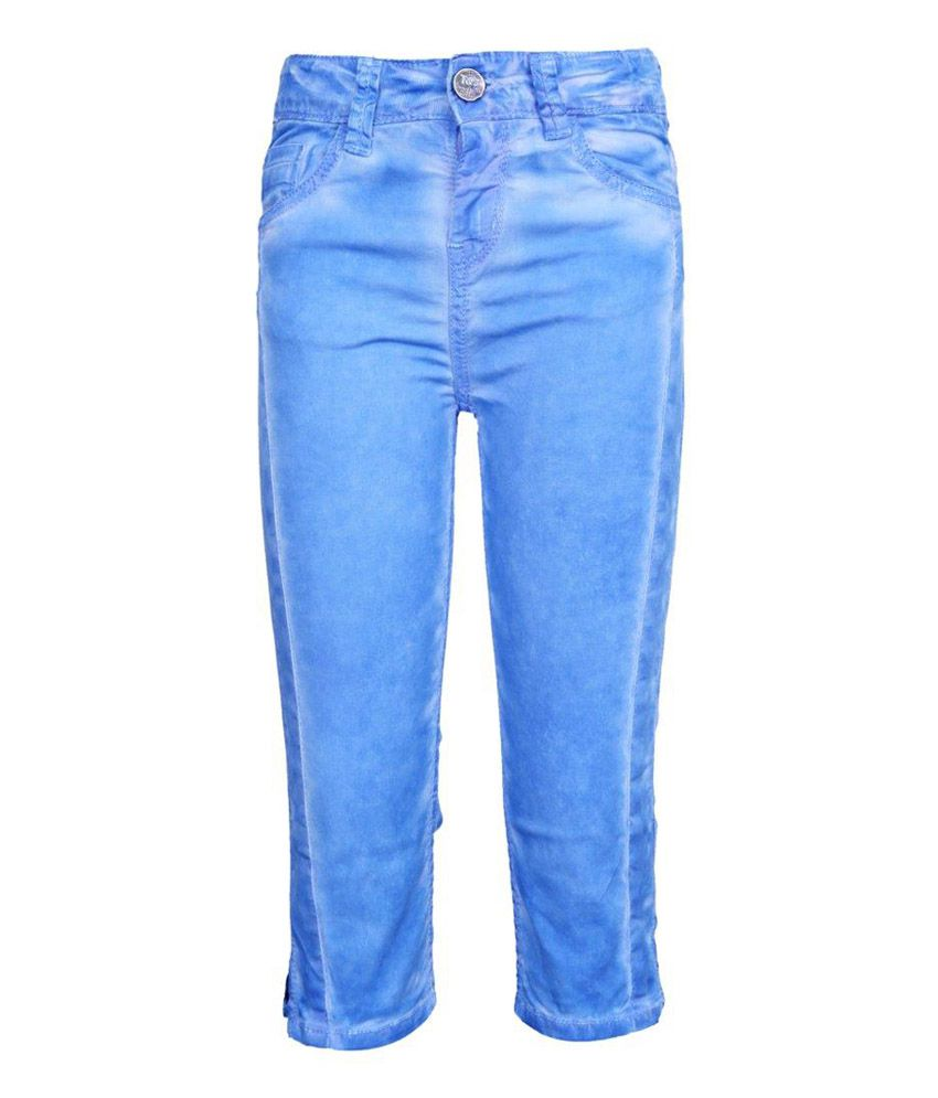 Tales & Stories Washed Effect Blue Capri