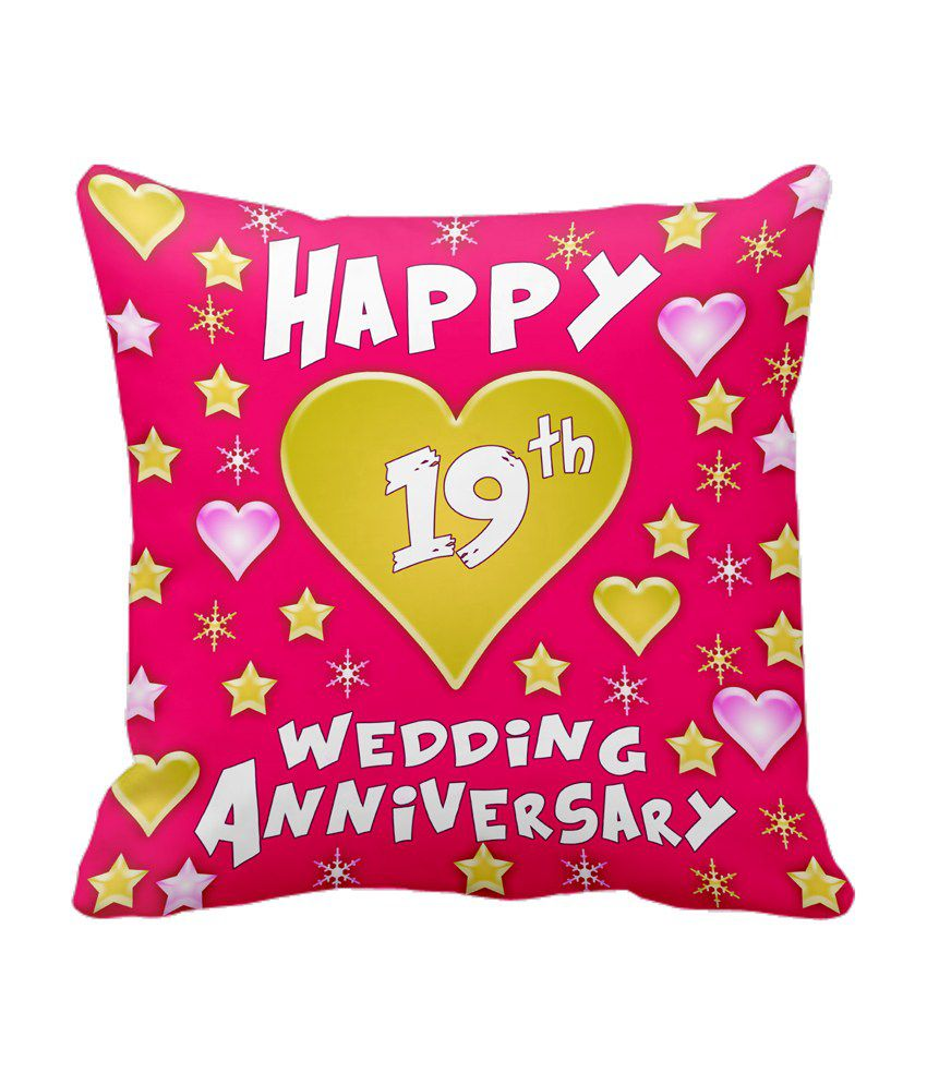 Gifts For 19th Wedding Anniversary: Tiedribbons Gift For 19th Happy Anniversary Cushion Cover