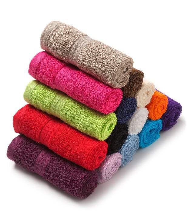 Z Decor Set of 20 Poly Cotton Face Towel