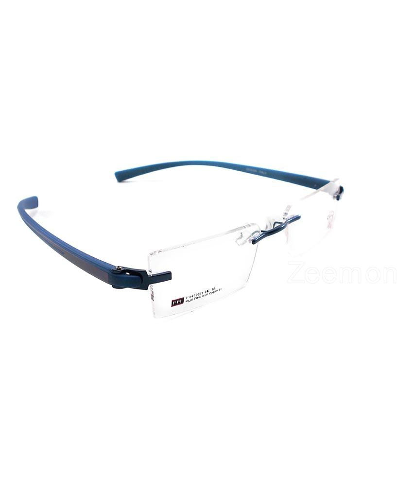 978bba1d2e3 Zeemon Rimless Frame Spectacles Eyewear Eyeglasses - Blue - Buy ...