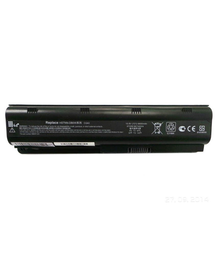 4d Hp Hstnn-q60c 9 Cell Laptop Battery