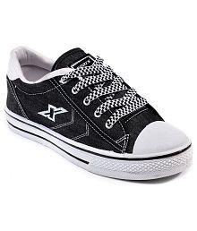 Sparx Black Canvas Shoes