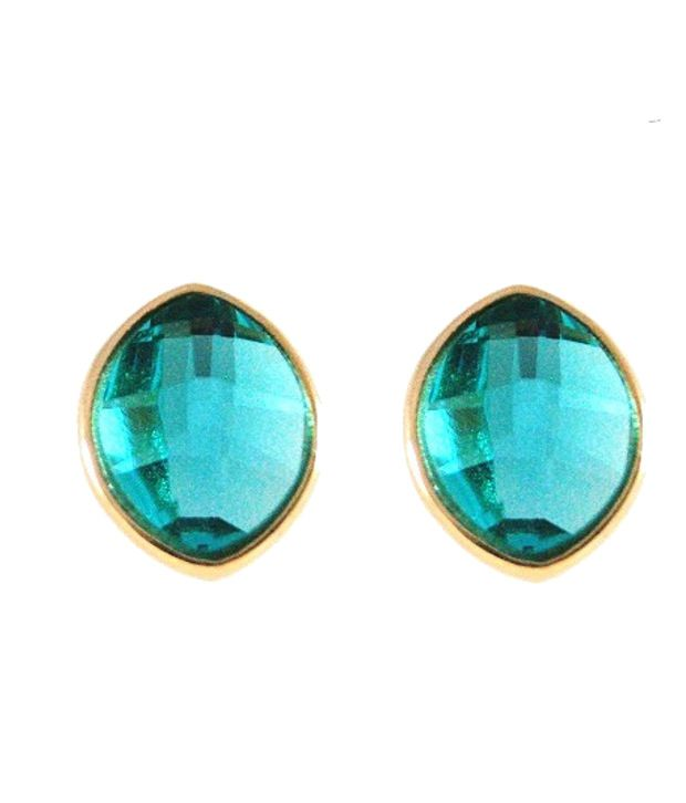 Ar Swarovski Elements 18k Gold Plated Stud Earrings