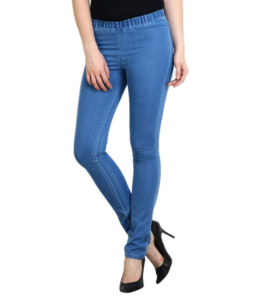 b3b967a7f9439c Buy Denim Cotton Lycra Jegging Combo Of 2 Online at Best Prices in India -  Snapdeal