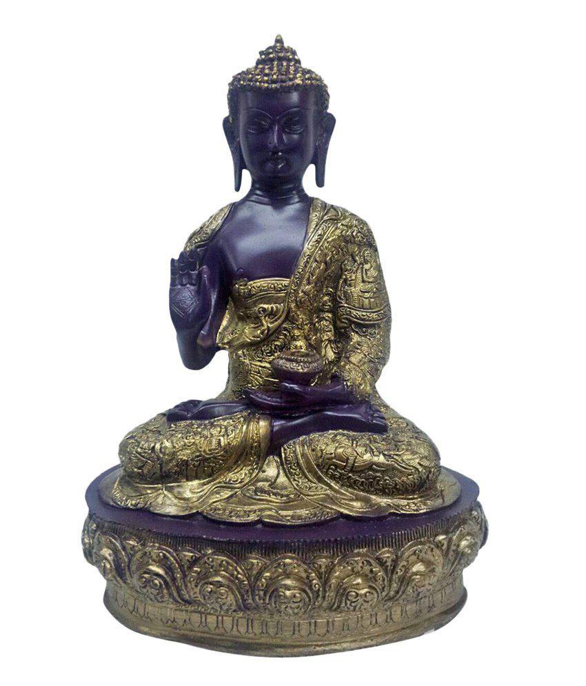 Earth Sitting Buddha Idol In Purple