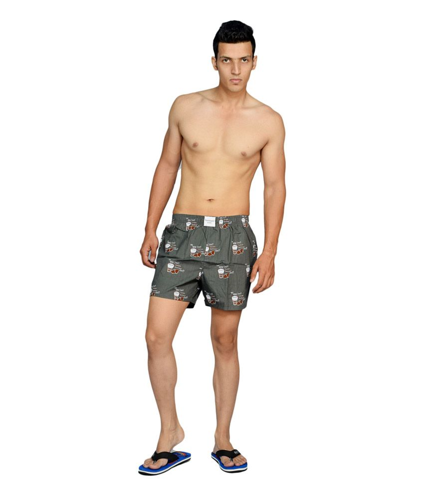 Flamboyant Multi color Printed Cotton Mens Boxer Shorts