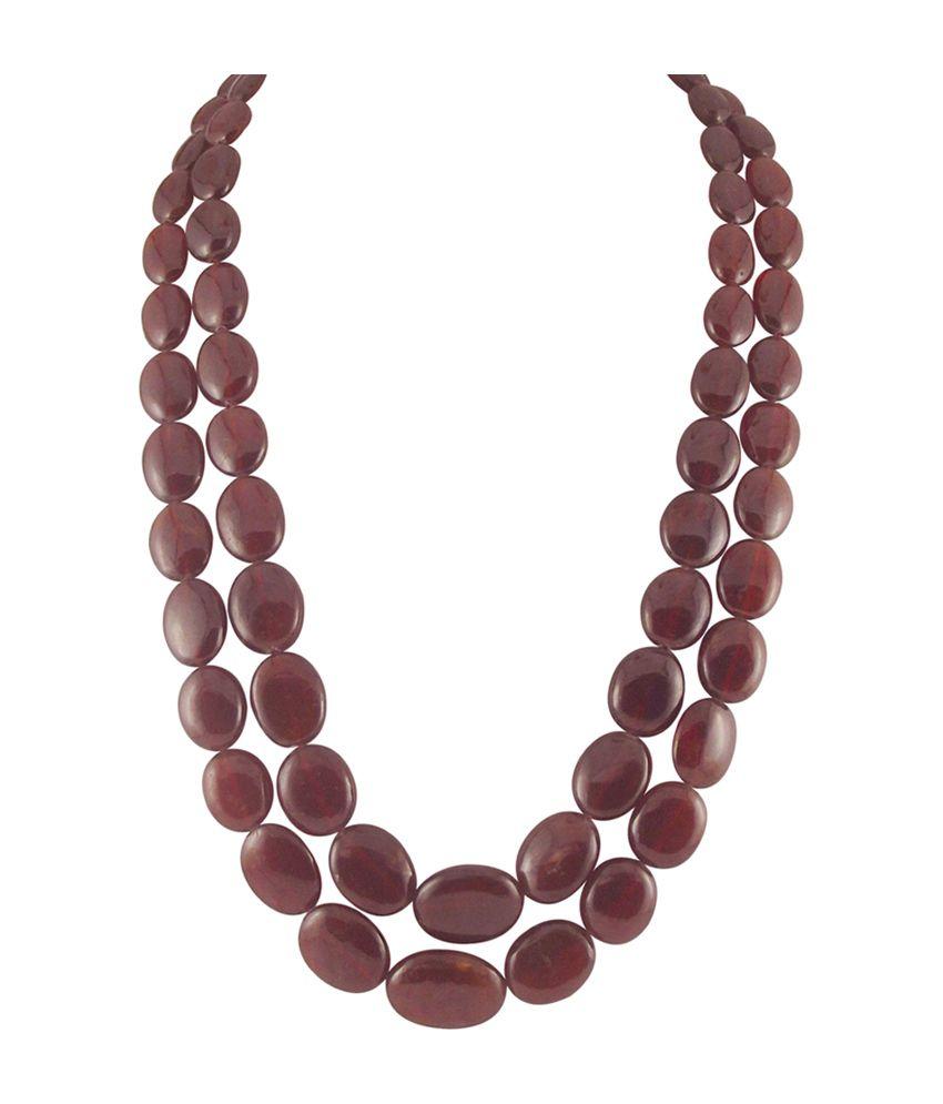 Sri Jagdamba Pearls Natural Ruby Necklace Buy Sri