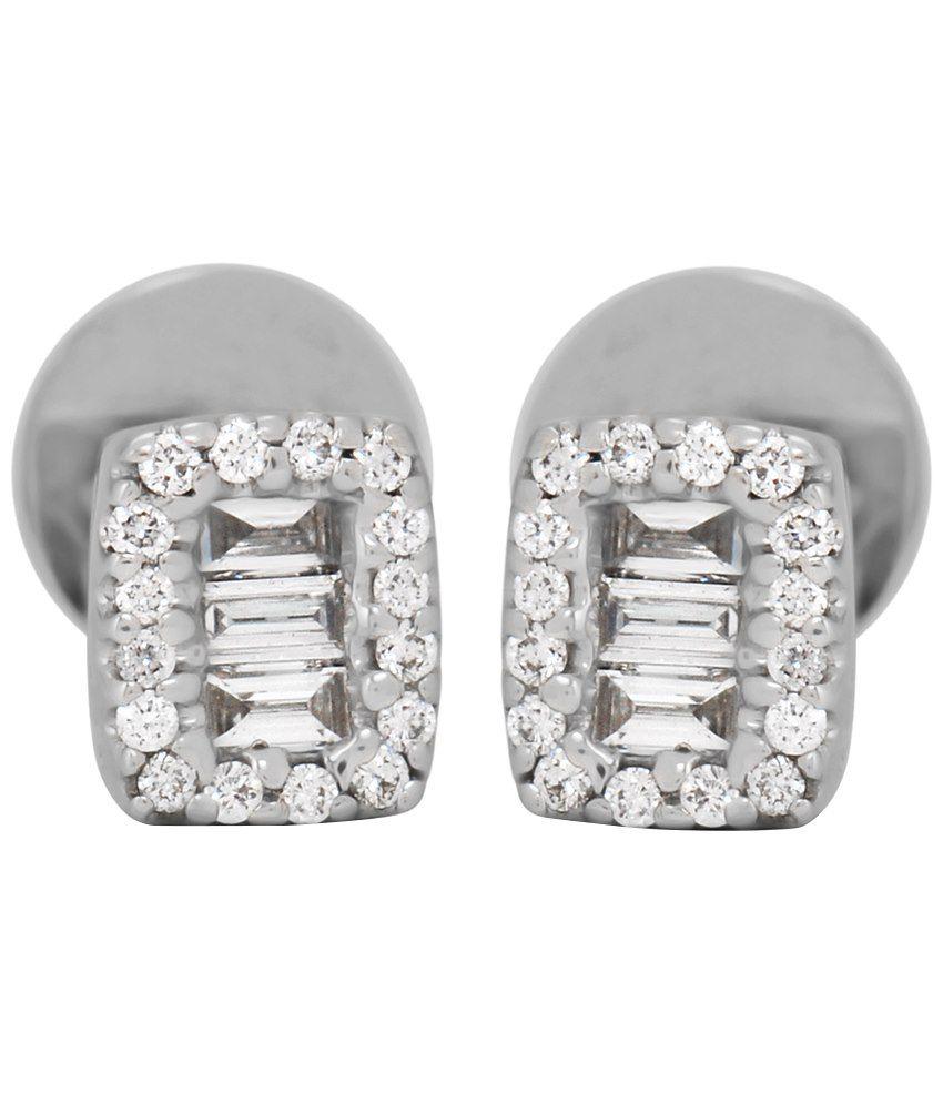 Punjab Jewellers Classy 18kt Gold Diamond Stud Earrings