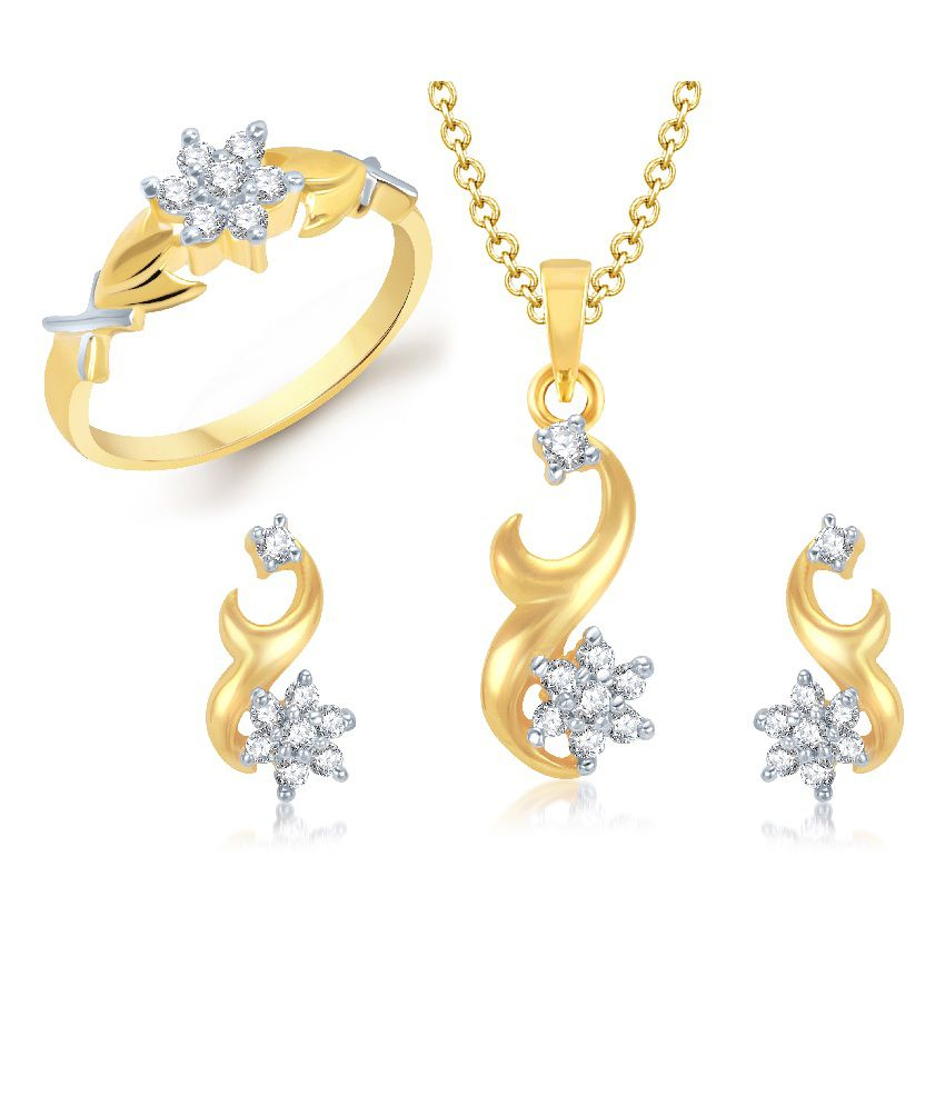 Vk Jewels Vivid Combo Ring And Pendant