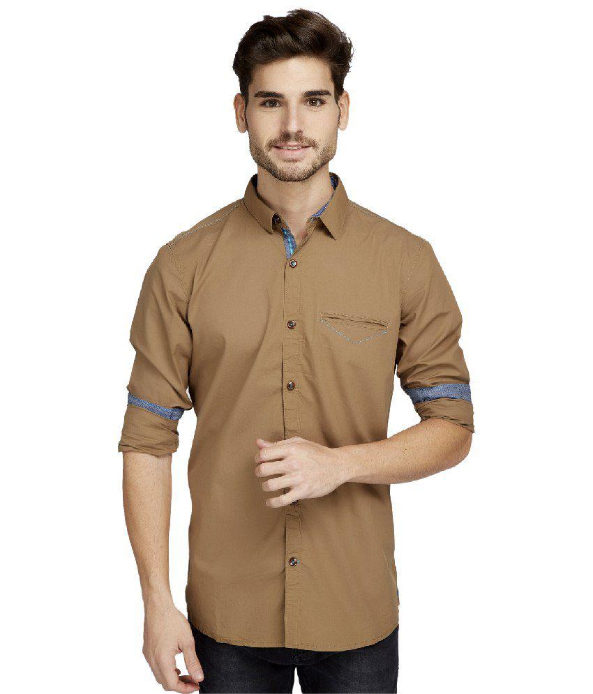Jadeblue Khaki Casuals Shirt