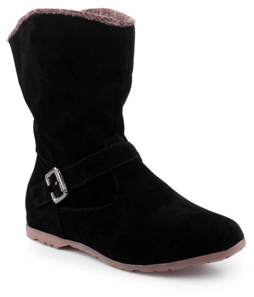 kielz black flat boots price in india buy kielz black