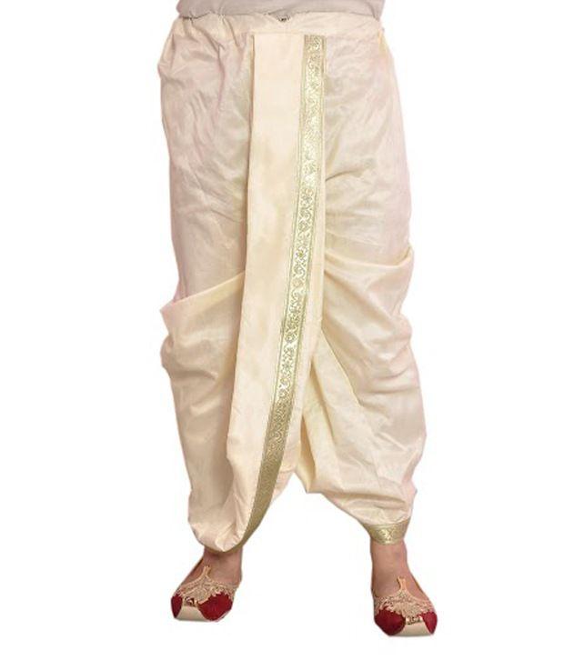 Larwa Silk Dhoti - Buy Larwa Silk Dhoti Online at Low ...